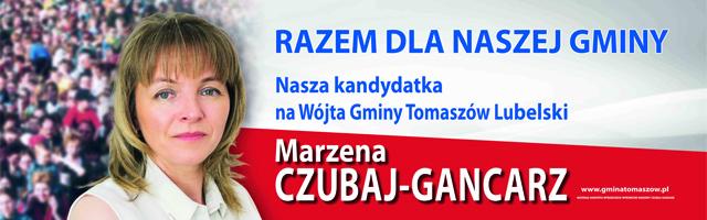 Wybierz Wójta Gminy Tomaszów Lubelski - Marzena Czubaj Gancarz